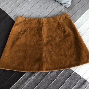 OOAK Sample Judith March Suede Mini Skirt S Tan